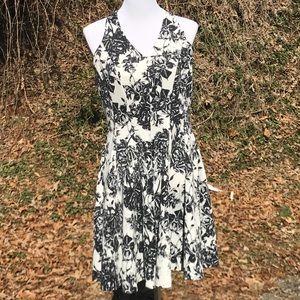T Fit & Flare Dress Halter Neck Sleeveless Stretch